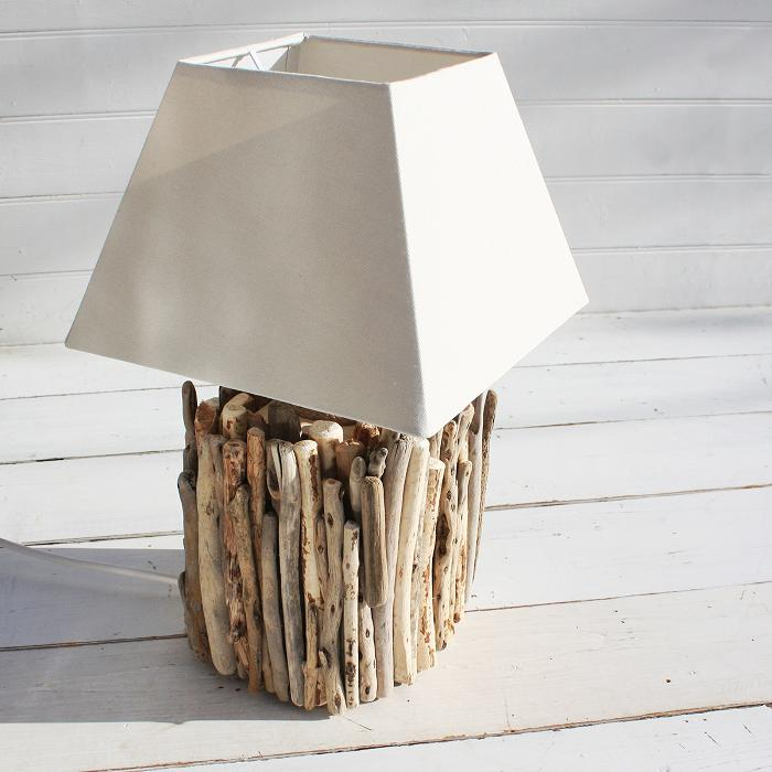 Table Lamp With Driftwood Base Best Inspiration For